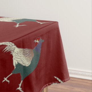 Tablecloth pheasant Merlot red Thanksgiving