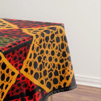 Tablecloth red Jimette orange Design on black