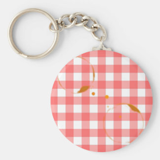 Tablecloth Ring Stains Basic Round Button Key Ring