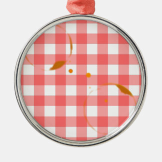 Tablecloth Ring Stains Christmas Ornament