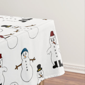 Tablecloth white cute snowman Christmas