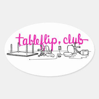 tableflip.club Oval Stickers