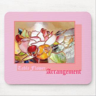 Tablel Flower Arrangement Sweet Pink マウスパッド