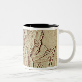 Tablet depicting four scribes at work Two-Tone coffee mug