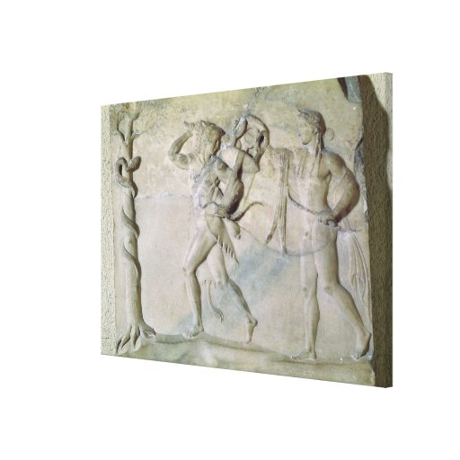 Tablet depicting Hercules Stretched Canvas Print