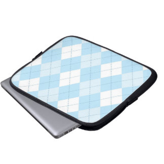 Tablet & Laptop Sleeve - Argyle SQ  - Clouds