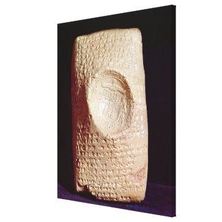 Tablet with cuneiform inscription canvas print