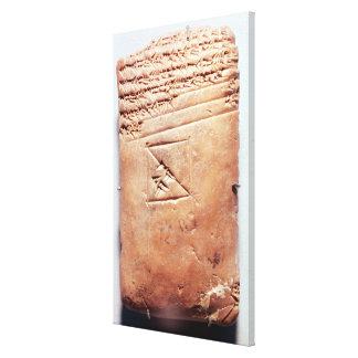 Tablet with cuneiform script, c.1830-1530 BC Stretched Canvas Print