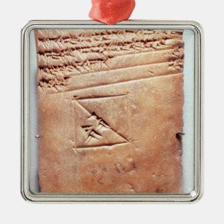 Tablet with cuneiform script, c.1830-1530 BC Christmas Ornament