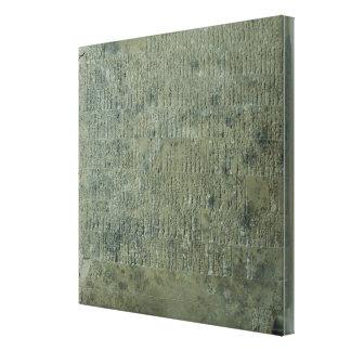 Tablet with cuneiform script gallery wrap canvas