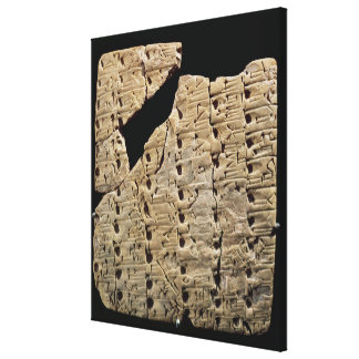 Tablet with cuneiform script, from Uruk Canvas Print