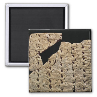 Tablet with cuneiform script, from Uruk Magnet