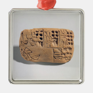 Tablet with pictographic inscription, Protoliterat Christmas Ornament