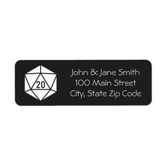 Tabletop Chic in Black Return Address Label