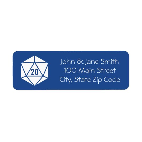 Tabletop Chic in Blue Return Address Label