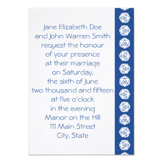 Tabletop Chic in Blue Wedding Invitation