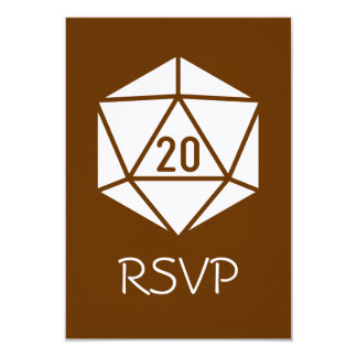 Tabletop Chic in Chocolate RSVP Card 9 Cm X 13 Cm Invitation Card