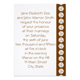 Tabletop Chic in Chocolate Wedding Invitation