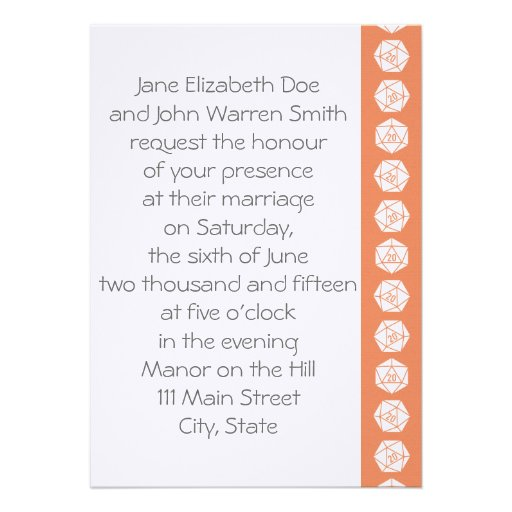 Tabletop Chic in Coral Wedding Invitation