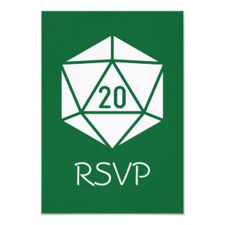 Tabletop Chic in Green RSVP Card 9 Cm X 13 Cm Invitation Card
