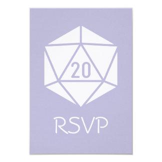 Tabletop Chic in Lavender RSVP Card 9 Cm X 13 Cm Invitation Card