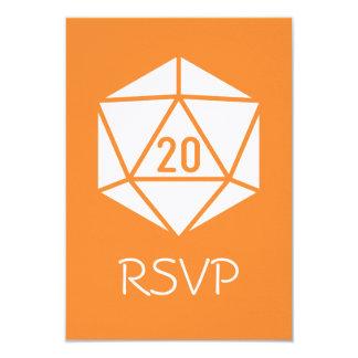 Tabletop Chic in Orange RSVP Card 9 Cm X 13 Cm Invitation Card