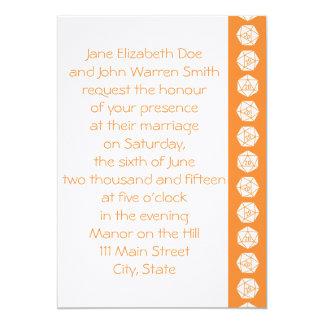 Tabletop Chic in Orange Wedding Invitation