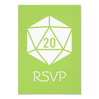 Tabletop Chic in Peridot RSVP Card 9 Cm X 13 Cm Invitation Card