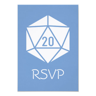 Tabletop Chic in Periwinkle RSVP Card 9 Cm X 13 Cm Invitation Card