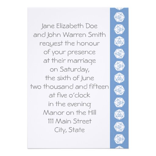 Tabletop Chic in Periwinkle Wedding Invitation