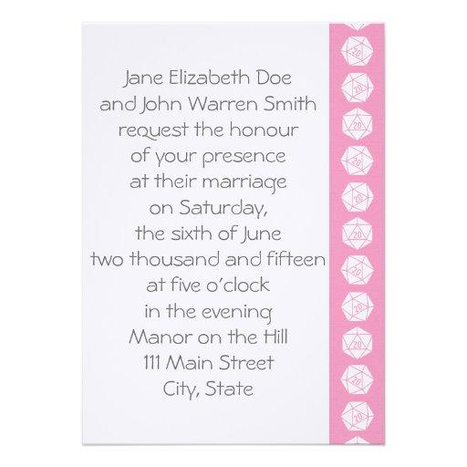 Tabletop Chic in Petal Pink Wedding Invitation
