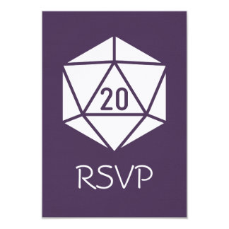 Tabletop Chic in Purple RSVP Card 9 Cm X 13 Cm Invitation Card