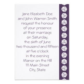 Tabletop Chic in Purple Wedding Invitation