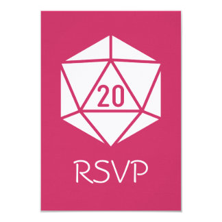 Tabletop Chic in Raspberry RSVP Card 9 Cm X 13 Cm Invitation Card