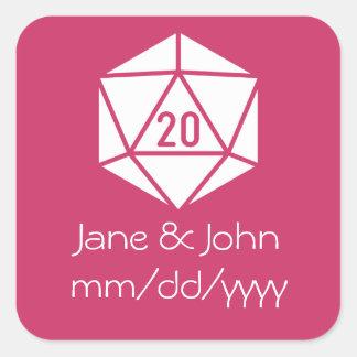 Tabletop Chic in Raspberry Sticker