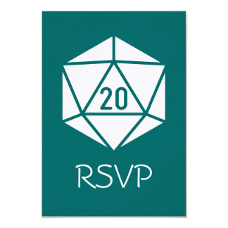 Tabletop Chic in Teal RSVP Card 9 Cm X 13 Cm Invitation Card