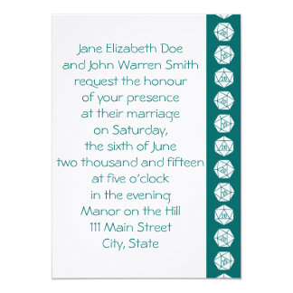 Tabletop Chic in Teal Wedding Invitation