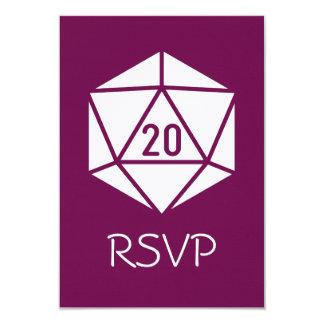 Tabletop Chic in Wine RSVP Card 9 Cm X 13 Cm Invitation Card