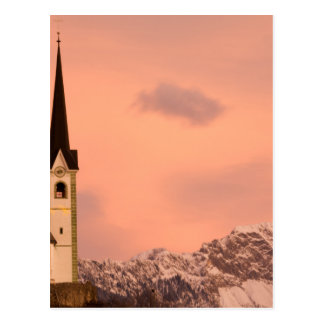 Tabor church at sunrise postcard