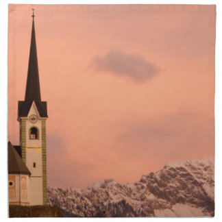 Tabor church at sunrise printed napkin