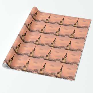 Tabor church at sunrise wrapping paper