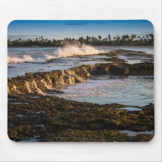 Tabuba Beach: Breaking Waves On The Reefs Mouse Mat
