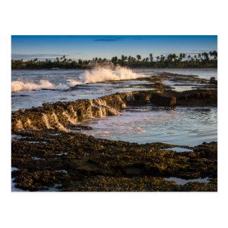 Tabuba Beach: Breaking Waves On The Reefs Postcard