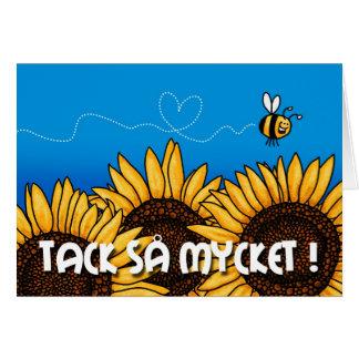 tack så mycket Swedish Thank you card