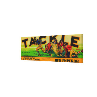Tackle Grape Label Canvas Print