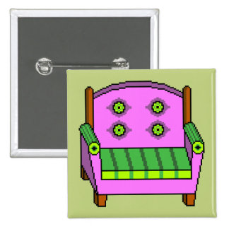 Tacky Armchair 15 Cm Square Badge