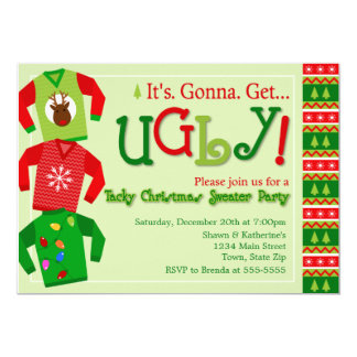 Tacky Christmas Sweater Party Invitation