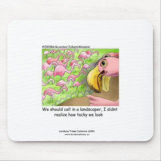 Tacky Pink Flamingos Funny Mouse Pad