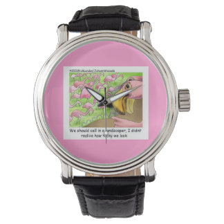 Tacky Pink Flamingos Funny Unisex Watch