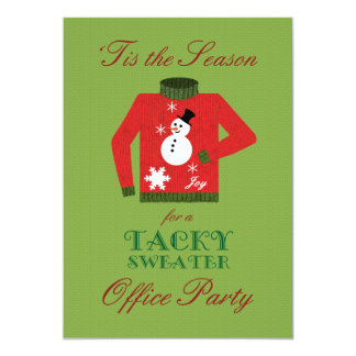 Tacky Sweater Office Christmas Party 5x7 Paper Invitation Card